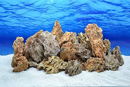 Pro Stein Aquarium Deko Drachenstein braun Natursteine 300-700 g Felsen Nr.62 Pagode Dekoration Aquascaping