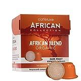 Caffeluxe African Collection Bio kompostierbare Nespresso kompatible Kaffee Kapseln Espresso dunkle Röstung African Blend 10 oder 60 Stück (60)