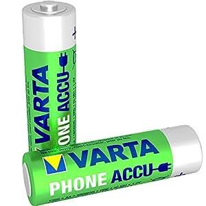 Varta Phone Accu AA Mignon Ni-Mh Akku  (2-er Pack, 1600 mAh, geeignet für schnurlose Telefone)
