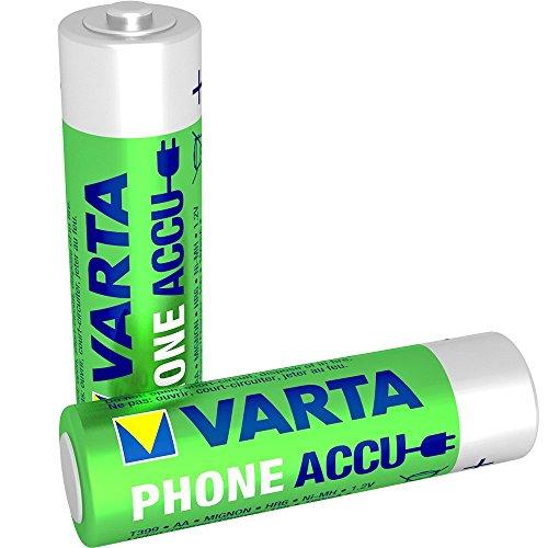 Varta Phone Accu AA Mignon NiMh Akku (2er Pack, 1600 mAh, geeignet für schnurlose Telefone)