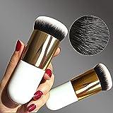 CESHUMD Pinceaux Maquillage à Fond de Teint Professionnel Cosmétique Outil Pinceaux Sommet Plat pour les Poudres, Anticernes, Contours, Fonds de Teints
