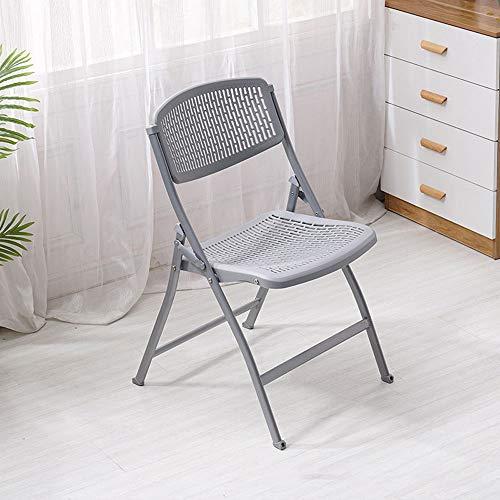 Kunststoff Grau Klappsessel (YANGCHENTT Kunststoffstuhl Büro-Besprechungsstuhl Einfacher Klappstuhl, leicht zu tragen (grau))