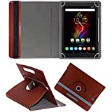 Fastway Rotating 360° Leather Flip Case Cover For Alcatel Pop 4 16 GB 10.1 inch with Wi-Fi+4G Tablet (Brown)