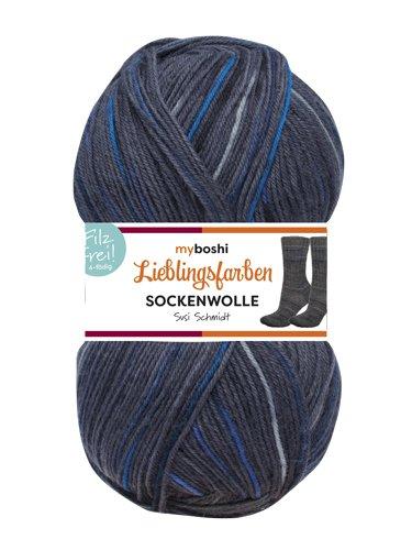 Susi Schmidt Lieblingsfarben Socken-Wolle 4-Fädig Häkel-Strickgarn für Strümpfe je 100 g Pro Knäuel und 420 m Lauflänge, Maschinenwaschbar bis 40 Grad …