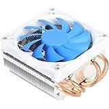 SilverStone SST-AR06 - Argon CPU-Kühler mit 4 Wärmerohren, Direct Contact Heatpipe-Technologie und 92 mm-PWM-Lüfter für Intel/AMD-Sockel