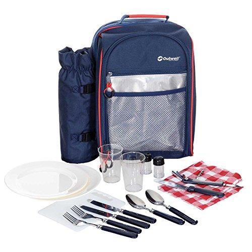 Outwell Picknick-Rucksack 2 Personen mit Kühlfach Picknick-Set inkl. Geschirr