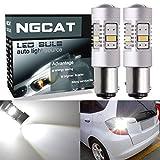 NGCAT 1800Lumen 10SMD 3020CREE BAY15D 1157LED-Leuchtmittel für Autos, ein Leuchtmittel Schwanz Bremse Stop LEDs, DC 12–16V, Xenon-Weiß (2-pack