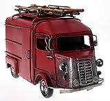 Auto Metall Feuerwehr 20 cm mit Bilderrahmen und Spardose Oldtimer Nostalgie Frankreich