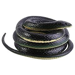 Idea Regalo - Giocattolo Serpente a Sonagli per Scherzo come Pesce d'Aprile Regalo di Halloween Decorazioni Accessori Serpente di Plastica di Gomma 130cm