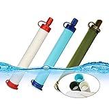 Limiz Mini Wasserfilter Werkzeuge Stroh Filter Microfiltration für Camping Wandern Reise Notfall Bereitschaft Outdoor-Lebensrettende Wasserfilter Pen Pack von 3