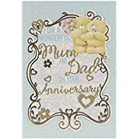 Hallmark Forever Friends Anniversary Card For Mum and Dad 'Have A Lovely Time' - Medium