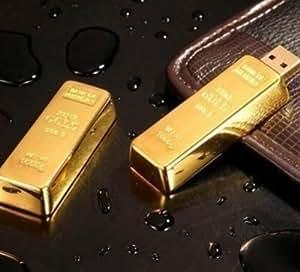 UP002 Clés USB 2.0 Modèle lingot d'or 32Go/64Go/128Go/256Go/512Go 256 Go Doré - Gold,
