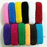 #9: FOK Set Of 30 Pcs Effortless Multicolor Elastic Cotton Stretch Hair Ties Bands Headband Durable Hair accessories Ponytail Holder No Snagging Or Stretching Rubber Bands