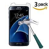 [3 Stück] Samsung Galaxy S7 Panzerglas Schutzfolie, Quiusky Displayschutzfolie für Galaxy S7 Panzerfolie Displayschutz Gehärtetem Glass 9H Härtegrad