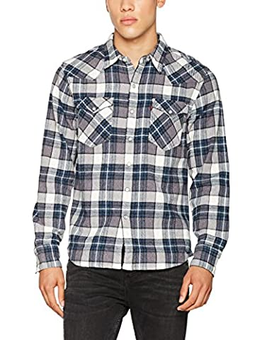Levi's Men's Barstow Western Casual Shirt, Grey (Wintercress Dark Heather Gray 246), Large