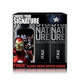 #1: Axe Signature Perfume, 122ml (Pack of 2) with Free Captain America Sipper