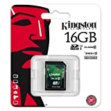 Kingston 16GB SD SDHC Class 10 Memory Card For Canon EOS 5D Mark III, EOS 60Da, EOS 650D, EOS M, EOS 6D, EOS 70D, EOS 100D, EOS 700D, EOS 600D, EOS 1100D, EOS 60D and EOS 550D Digital SLR Cameras By UkMobileAccessories