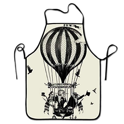 LarissaHi Grillschürze, Küchenchef, Profi zum Grillen, Backen, Kochen für Männer Frauen-Bunter Heißluftballon-2 - Säure-farbstoffe