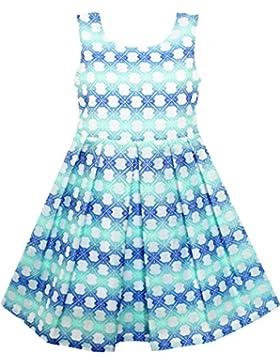 Mädchen Kleid Plaid Kariert Gestreift Farbe Blocks