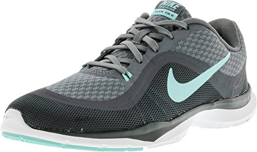 Nike WMNS Flex Trainer 6 - Sneakers Donna Cool Grey/Hyper Turquoise/Dark Grey
