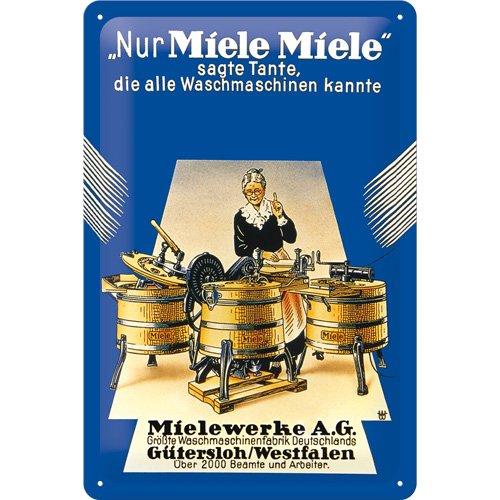 Nostalgic-Art 20225 Miele Nur Blechschild, 20 x 30 cm