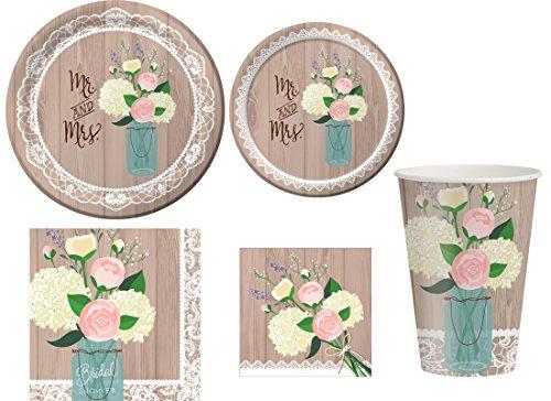 Unbekannt Creative Converting rustikale Hochzeit Zubehör-Kit für 8 Brown -