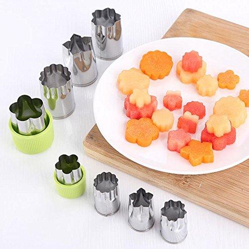 8pcs DIY Obst Gemüse Form Set Star Flower Form Edelstahl Ausstecher cake Cookie Plunger Form Cutter Küche Werkzeug