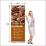Rollup-Banner für Bäckerei für Brotwerbung (85 x 200 cm)