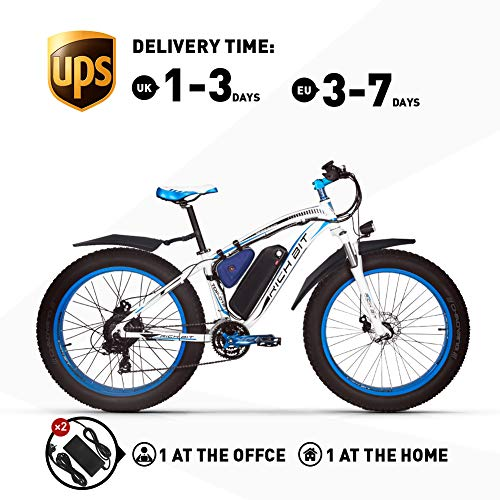 RICH BIT RT022 Electric Bicycle 48V-17Ah LG Li-Battery E-bike 1000W Brushless Motor Mechanical Disc Brake Shimano 21-speed Mountain Bike