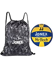Jonex Moulded Hi-tech Volleyball and Reversible String Bag Combo @Hipkoo