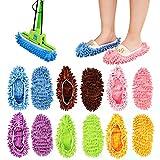 YJShop 12 pz, Pantofole in Microfibra riutilizzabili per la Pulizia del Pavimento,...