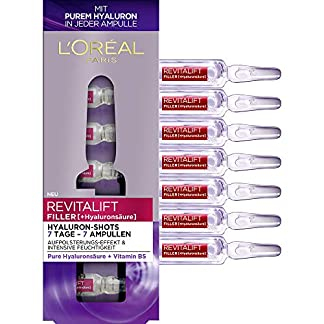 L'Oréal Paris Revitalift Filler – Hidrourón con ácido hialurónico puro, para una hidratación intensa y una piel acolchada, 9,1 ml