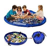XL 150 سم قابل للحمل حصيرة لعب الأطفال منظم حقيبة تخزين لعبة Lego Bin Rug Box للأطفال هدية لعبة