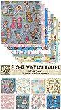 Paper Pack (24blatt 15x15cm) Baby Newborn FLONZ Vintage Muster Papier fur Scrapbooking und Handwerk
