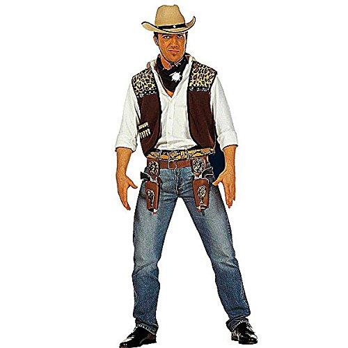 WIDMANN WDM4318C - Costume Per Adulti Gilet Cowboy con Bandana, Marrone, XL