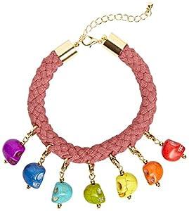 WIDMANN?Pulsera Cuerda con 7calaveras colores Womens, multicolor, talla única, vd-wdm03583