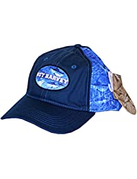bc867b69126ac Guy Harvey Blue Marlin Camo Fitted Fishing Hat