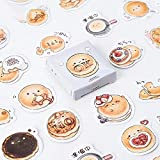 45 Pcs/pack Autocollants décoratifs mignons de pain délicieux rondes rondes Autocollants adhésifs DIY Autocollants de journal intime