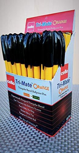 Penna a sfera triangolare 1 mm Bic Cello Original Tri-Mate punta media confezione da 10 10 Nero