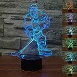 3D Hockey su Prato Night Light Lamp 7 cambiamento di colore LED USB touch Table Gift Kids Toys Decor decorazioni di Natale regalo di San Valentino regalo di compleanno