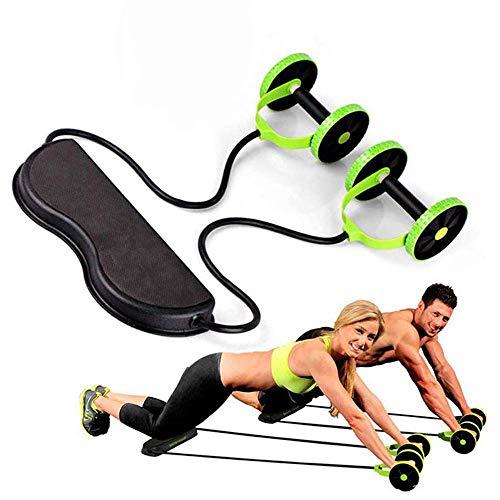 RANR Widerstandsbänder Sport Core Double AB Roller-Trainingsgerät, professionelle Ab Wheel Roller-Stützen, tragbare Abdominal Workout Machine-Fitness (Machine Abs Workout)
