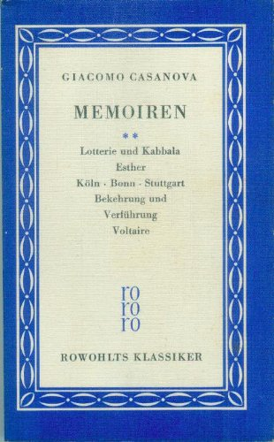 Memoiren. 2. Lotterie und Kabbala