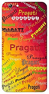Pragati (Progress) Name & Sign Printed All over customize & Personalized!! Protective back cover for your Smart Phone : Lenovo P1