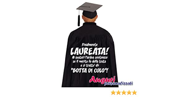 Bombo Mantello di laurea regalo originale e divertente Finalmente laureata   Amazon.it  Giochi e giocattoli df93b56557a7
