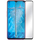True Desire Tempered Glass for Oppo F9/ F9 Pro Screen Protector Full Glue Edge to Edge Fit 9H Hardness Bubble Free Anti-Scratch Crystal Clarity Screen Guard for Oppo F9 Pro - Black