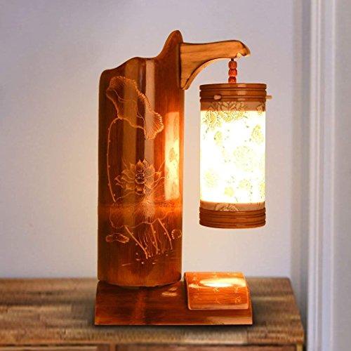 WXBW Tischlampe-Personalisieren Sie die kreative Retro-gebogenes Loch Kabinett Bett Filmmaterial Bambus elektrische Gravur Kunst warm Mini-Licht - Kunst-kabinett