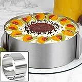 lzndeal Moule Cercle à Cake de Dessert Emporte-Pièces en Acier Inoxydable Bague Réglable 16 cm – 30 cm/6 inch - 12 inch