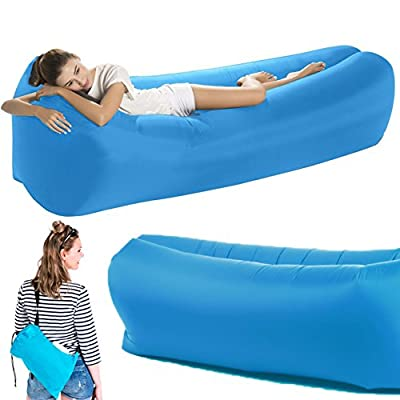 Disparu Improved Design Inflatable Lounger Air Sofa for Indoor/Outdoor Camping, Beach, Park, Bedroom Supports up to 250KG/551lbs/39 Stones - No Leaking/Deflating, Waterproof, Floats - inexpensive UK light store.