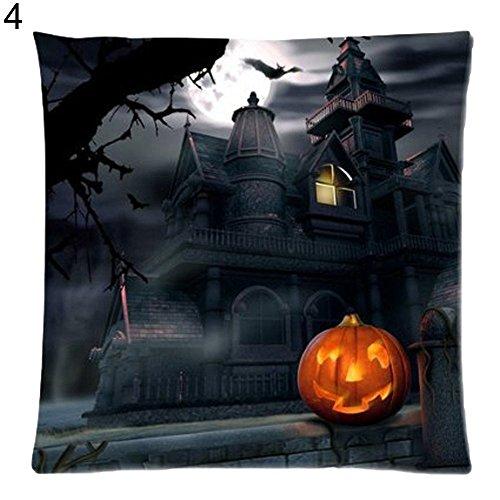alkyoneus Halloween Kürbis Kissen Fall Sofa Überwurf Kissenbezug Auto Raum Dekoration 4#