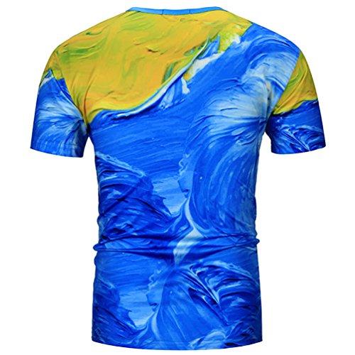 MILEEO Männer T-Shirt Herren T-Shirt 6 Farbe 6
